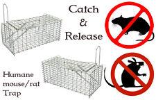 2x Rat Catcher Spring Cage Trap Humane Live Animal Rodent Indoor Outdoor Metal