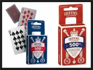Queen-039-s-Slipper-500-039-s-Playing-Cards-Casino-Quality-4-x-Card-Decks-Packs-Red-Blue