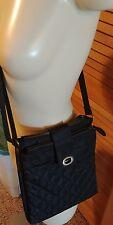 Eddie Bauer Crossbody Bag Purse Nylon Black Gently Used Quilted