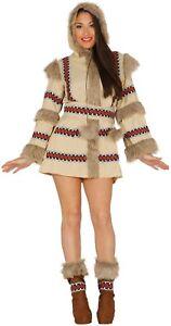 Ladies eskimo north pole national dress explorer fancy dress costume image is loading ladies eskimo north pole national dress explorer fancy solutioingenieria Choice Image