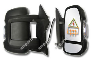 Fiat Ducato Short Arm Wing Mirror Electric Complete Right O//S 2006 Onwards