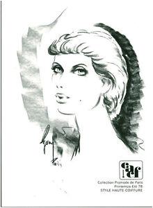 Publicite Ancienne Photo Dessin Femme Coiffure Mode Cacf Ete 78 No