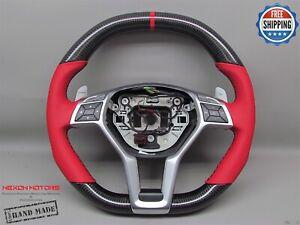 Mercedes SL63 SL65 W212 E63 CLS63 CLA45 C63 A45 Red Napa Carbon Steering Wheel