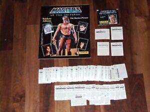 Masters-Of-The-Universe-1987-He-Man-Movie-empty-Panini-Sticker-album-amp-Loose-Set