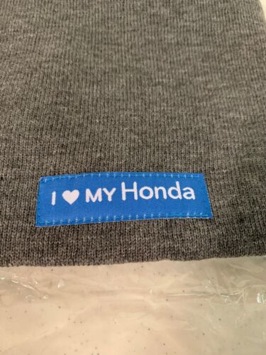 Genuine OEM Honda Lifestyle Collection Beanie Hat Gray// Knit Cap Love My Honda
