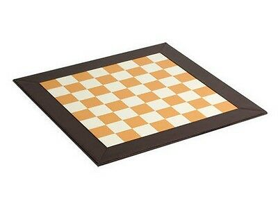 "18/"" Black /& White Faux Leatherette Chess Board 1 3//4/"" Reinforced With MDF New"