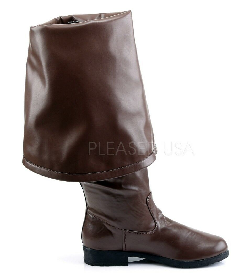 Funtasma Maverick Cuffed Pirate Boots Brown 8 9 10 11 12 13 14