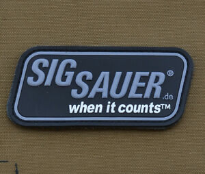 PVC-Rubber-Patch-034-Sig-Sauer-034-with-VELCRO-brand-hook