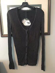 Rayon Cut Størrelse Sweater Wang Small Out Alexander Grey Back C7qx54tpn