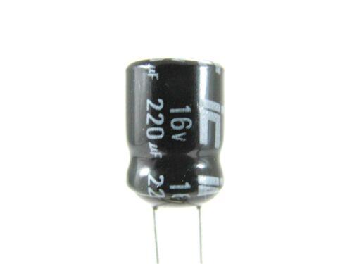 105°C Sealed Electrolytic 220UF 16V 3x Illinois Capacitor 227RMR016M-PX