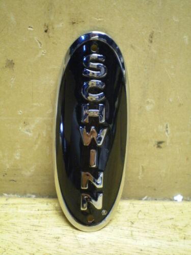 New Schwinn Approved Black Phantom /& Panther Brass Bicycle Badge