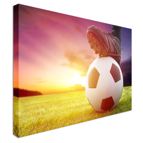 Football kickoff sunset Canvas Art Cheap Wall Print Home Interior