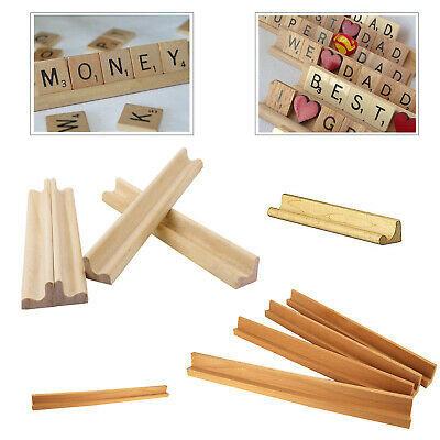 6 Pcs Scrabble Letter Stand Rack Tile Holder Wood Wooden Use For Wedding Craft