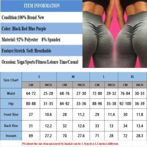 Women Leggings High Waist Yoga Pant Ladies Butt Lift Sports Gym Ruched Trousers