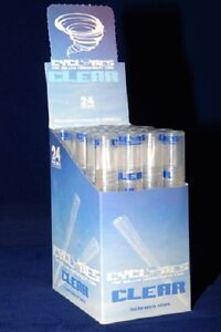 CLEAR-UNFLAVORED-CYCLONES-Box-of-24-packs-48-PreRolled-CLEAR-Cigar-Tube-Cones