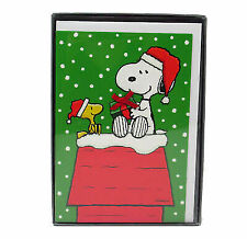 Snoopy Christmas Cards.Hallmark Peanuts Snoopy Christmas Greeting Cards 16 Count