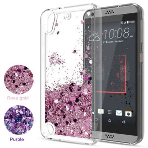For-HTC-Phone-Case-Cute-Glitter-Liquid-Quicksand-Clear-Soft-TPU-Protective-Cover