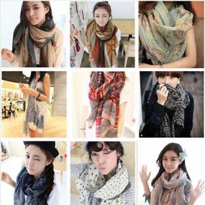 Women-Long-Neck-Large-Soft-Scarf-Wrap-Shawl-Pashmina-Stole-Scarve-Chiffon-Cotton
