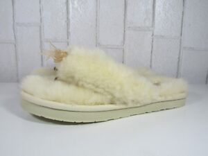 f3331e22a0c UGG WOMENS SLIPPER FLUFF FLIP FLOP III NATURAL COLOR SIZE 6 STYLE ...