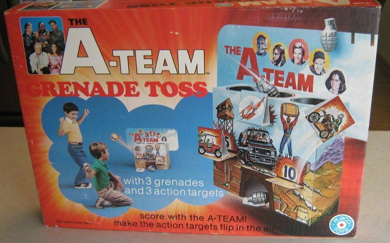 1983 The A-Team Grenade Toss Target Playset Mint Unused MIB By Placo Toys