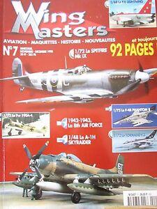 Modellino-Aviazione-Militare-WW2-Rivista-Wing-Masters-N-7-di-1998-Aerei-Guerre