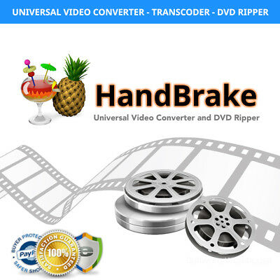 Handbrake Video Converter Software / DVD Ripper for Windows and Mac + FREE  BONUS | eBay