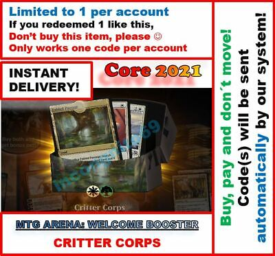 6 Boosters Core Set 2021 M21 PrereleaseINSTANT EMAIL MAGIC MTG Arena Code