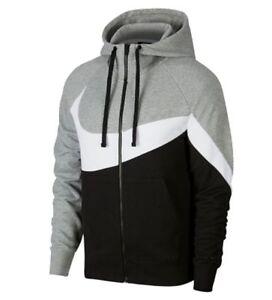 Jacke NIKE zu Details Sport Herren Freizeit NSW HBR Hoodie AR3084 Grau Kapuzen Sweatjacke wkOPX08n