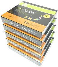 25 Pieces HP Logo 12X CD-RW CDRW ReWritable Blank Disc 700MB in Slim Jewel Case