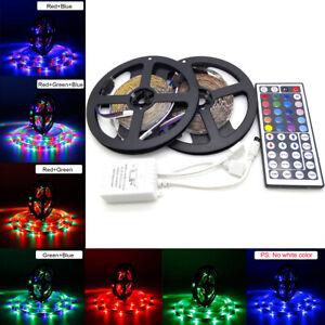 10M-3528-SMD-RGB-600-LED-Strip-light-string-tape-12V-44-Key-IR-remote-controller