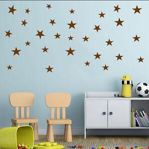 Image Is Loading 24 X Star Wall Stickers Children Nursery Kids