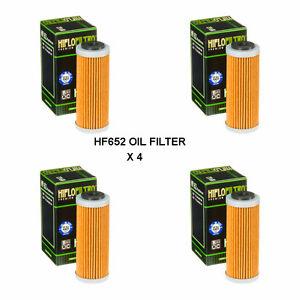 KTM-250-EXCF-seis-dias-se-ajusta-de-2013-a-2019-Filtro-De-Aceite-Hiflofiltro-HF652-4-Pack