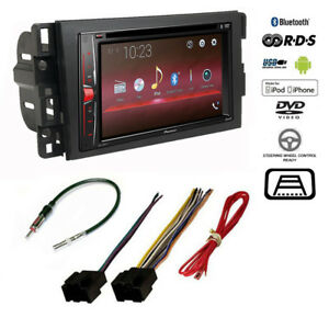 image is loading pioneer-double-din-bluetooth-usb-car-stereo-cd-