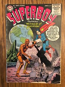 Superboy-45-DC-1956-1st-App-Metallo-VG-Solid-Silver-Age-Key