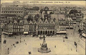 Saint-Quentin-Frankreich-Picardie-AK-1914-Vue-generale-Cote-Nord-Strassenansicht