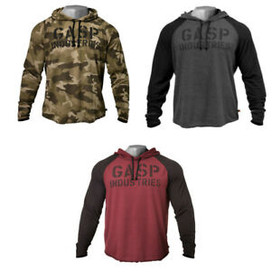 GASP Long Sleeve Thermal Hoodie 220733 Bodybuilding Fitness Kapuzenpullover