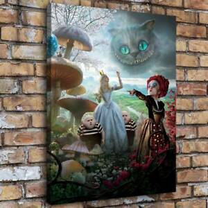 """12/""""x24/""""Alice Disney HD Canvas prints Painting Home decor Picture Wall art Poster"""