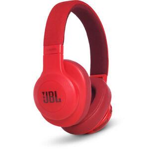 JBL E55BT Bluetooth Over-Ear Headphones - Red - JBLE55BTRED