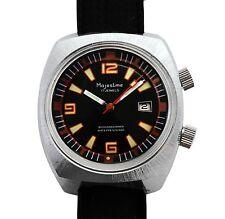 Vintage 60s Majestime Super Compressor Rotating Bezel Two Crown Divers Watch