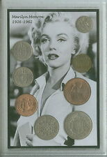 Marilyn Monroe Norma Jean vintage de Hollywood Movie Star icono moneda Set De Regalo De 1962