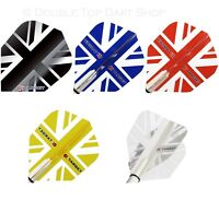 5 x Sets Target Vision Union Jack Flag Dart Flights  100 Micron Choice of Colour