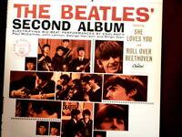 BEATLES~SECOND ALBUM~STEREO~APPLE ST-2080~~NEAR MINT~RIM NUMBER 9~~ POP  LP