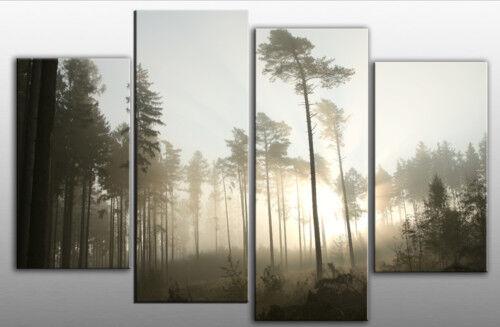Extra large Misty paysage forêt SPLIT toile 5 pieds