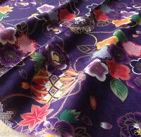 "Japanese fabric Patchwork craft Oriental Asian Kimono 21x19""(55x50cm) #0044"