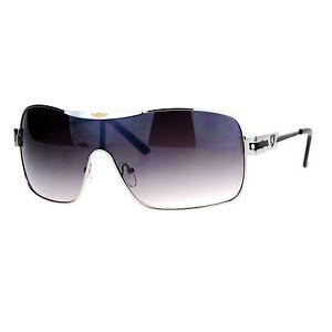 211a06ff94fe Image is loading Khan-Sunglasses-Mens-Shield-Rectangular-Designer-Fashion- Shades