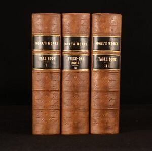 1850-3vol-The-Every-Day-Book-and-Table-Book-William-Hone-Calendar-of-Popular-Amu