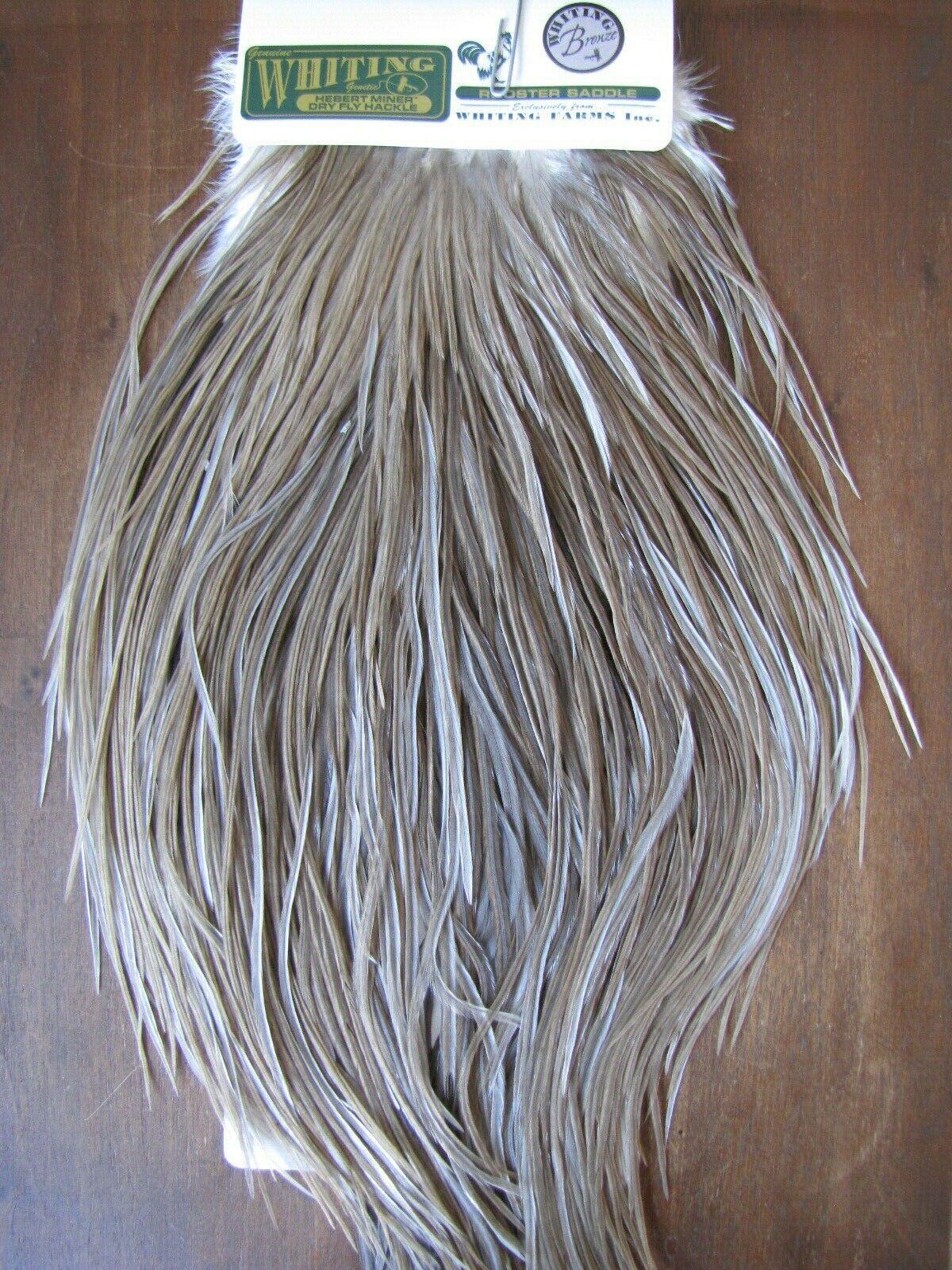 Fliegen Tying Whiting H M Bronze Rooster Saddle Medium grau Dun  G