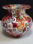A Superb Petite Vintage Murano Fratelli Toso Millefiori Art glass Vase