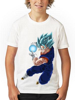 Garçon//Enfants Dragon ball Z FUSION Super Vegito libérer Spirit bombe design tshirt