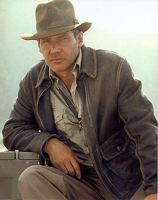 Indiana Jones marron vieilli véritable vache cacher veste en cuir peau